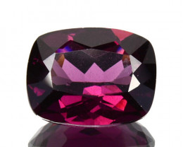 1.91 Cts Natural Pinkish Purple Rhodolite Garnet Cushion Africa Gem