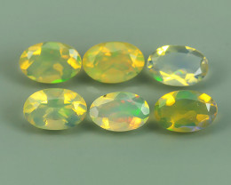 1.60 CTS MEXICAN OPAL! NATURAL OVAL CUT EXCELLENT PLAY OF COLORS ! AAA