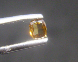 0.17ct Fancy Deep yellowish brownish Orange  Diamond , 100% Natural Untreat
