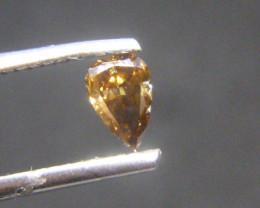 0.34ct Fancy Dark reddish orangish Brown  Diamond , 100% Natural Untreated