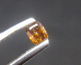 0.175ct Fancy Deep yellowish brownish Orange  Diamond , 100% Natural Untrea