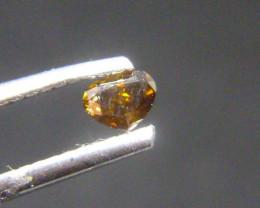 0.21ct Fancy Dark brownish Greenish Orange Diamond , 100% Natural Untreated