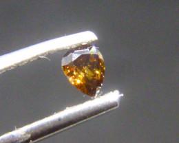 0.15ct  Fancy Dark Yellow Brown Diamond , 100% Natural Untreated