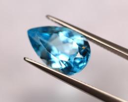 7.36ct Swiss Blue Topaz Pear Cut Lot S13