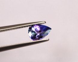 1.08Ct Violet Blue Tanzanite Pear Cut Lot B212