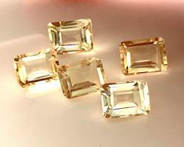 ⭐ 5 piece Citrine Parcel 8 x 6mm VVS gems No reserve ~