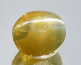 1.48Cts Natural Honey Green Natural Chrysoberyl Cat's Eye