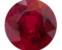 0.94 ct Deep Rich Red Round Ruby
