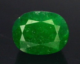 6.20 ct Natural Vivid Green Color Emerald~Swat