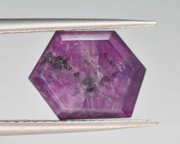 Rarest 4.60 ct Trapiche Pink Kashmir Sapphire