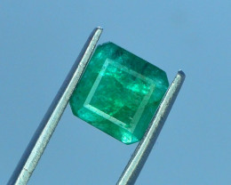 1.30 ct Natural Vivid Green Color Emerald~Swat N