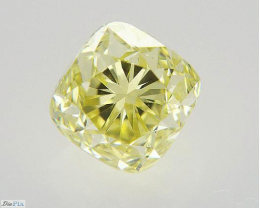 0.71ct Natural Fancy Intense Yellow Diamond GIA certified  + Video