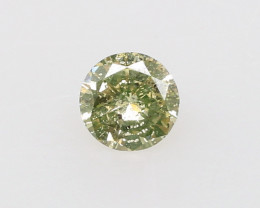 Natural Fancy Green Yellow Diamond GIA certified