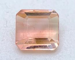 4.23 cts VVS Peach Bicolor Tourmaline - No Inclusions