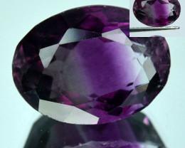 9.27 Cts Natural Bi-Color - Color Change Fluorite Oval Cut Afghanistan