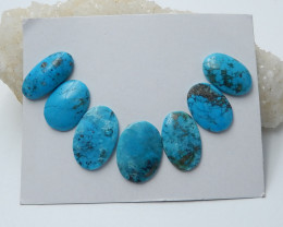 64.8cts Unique natural oval turquoise cabochon beads semi-gem (A655)