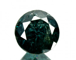 0.23 Cts Natural Deep Blue Diamond Round Cut Africa