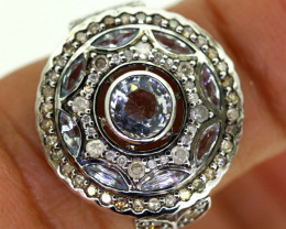 16.35CTS ART DECO DIAMOND  CLUSTER RING SG-2805