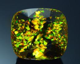 Rare AAA Fire 78.03 ct Chrome Green Sphene