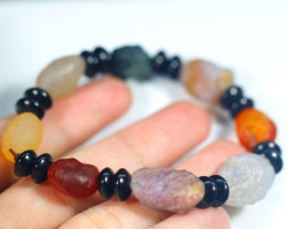 122.0Ct Natural Candy Agate Bracelet