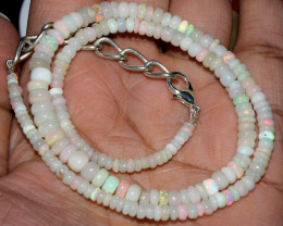 35 Crt Natural Ethiopian Welo Fire Opal Beads Necklace 60