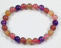 75.5Ct Natural Mix Colour Crystal Bracelet