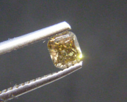 0.48cts Fancy Brown Green Diamond, 100% Natural Untreated Gemstone