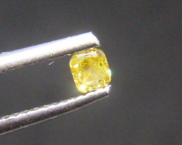 0.18ct Fancy Vivid brownish Yellow  Diamond , 100% Natural Untreated