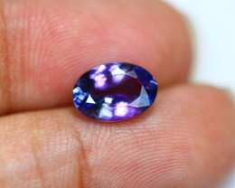 2.09Ct Greenish Violet Blue Tanzanite Oval Cut Lot B220