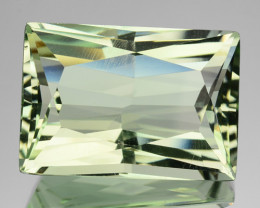 11.20 Cts Natural Prasiolite / Mint Green Amethyst Princess Cut Brazil