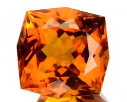 5.54 Cts Natural Golden Orange Citrine Fancy Cut Brazil
