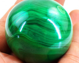 Genuine 844.00 Cts Malachite Reiki Healing Sphere