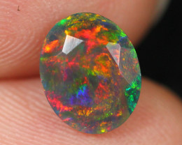 1.48cts Natural Ethiopian Black Faceted Welo Opal