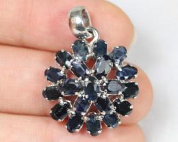 19.72cts Blue Sapphire Silver 925 Pendant