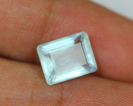 3.19ct Blue Aquamarine Octagon Cut Lot GW2884