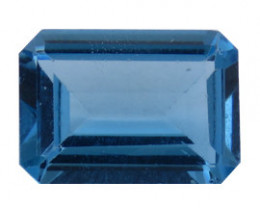 7.12 ct Emerald Cut Topaz  (Rich Blue)
