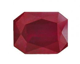 1.03 ct Emerald Cut Burmese Ruby  (Fiery Red)
