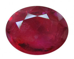 0.48 ct Oval Burmese Ruby  (Rich Red)
