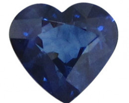 0.90 ct Heart Shape Blue Sapphire  (Deep Rich Blue)