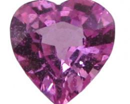 0.59 ct Heart Shape Pink Sapphire  (Rich Pink)