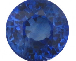 0.62 ct Round Blue Sapphire  (Royal Blue)
