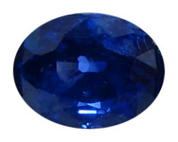 0.58 ct Oval Blue Sapphire  (Royal Blue)