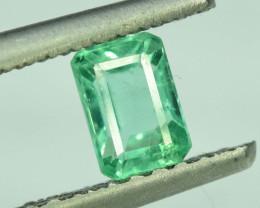 0.75 Clean Colombian Dark color Lustorious Emerald gemstone