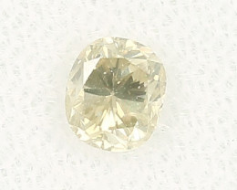 Natural Greyish Yellow Diamond HRD certified