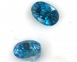 GIA Certified Greenish Blue Zircon 2 Stones   JC