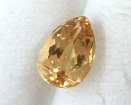 GIA Certified 1.06 ct Pear Cut Precious Topaz    JC