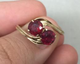 (B10) Stunning 1.25ct. Ruby Composite Ring 10K YG