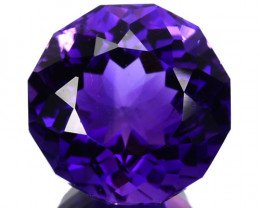~AWESOME~ 4.54 Cts Natural AAA Purple Amethyst Round Fancy Cut Bolivia