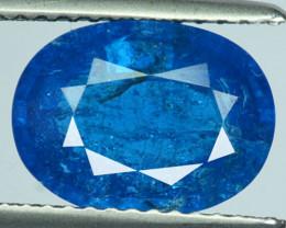 2.63 Cts Natural Neon Blue Apatite Cushion Cut Madagascar