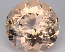 ~GORGEOUS~ 2.49 Cts Natural Peach Pink Morganite Round Cut Brazil